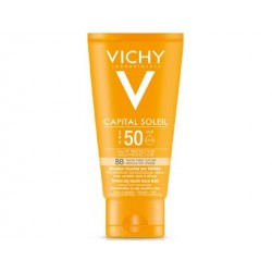 Vichy Ideal Soleil BB Emulsie 50+ 50ml ten sensibil,mixt si gras