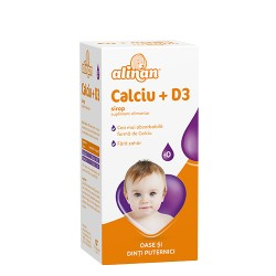 Alinan Calciu+D3 Sirop, 150 ml, Fiterman Pharma
