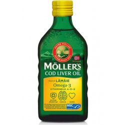 Mollers Cod Liver Oil Omega 3 Lamaie 250ml
